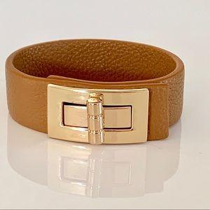 HP Brown Cuff Bangle And Brass Bracelet